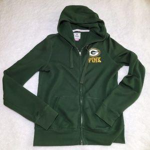 VS PINK Green Bay Packers Sweatshirt Jacket